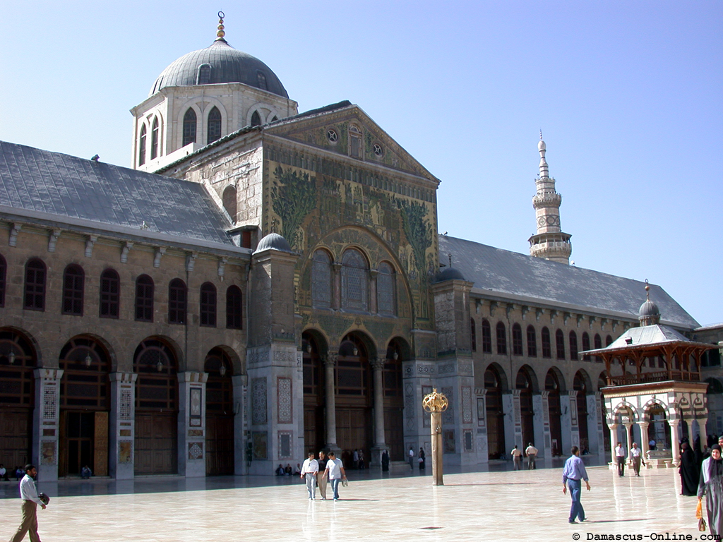 Mortar fire kills 4 by famed Damascus mosque