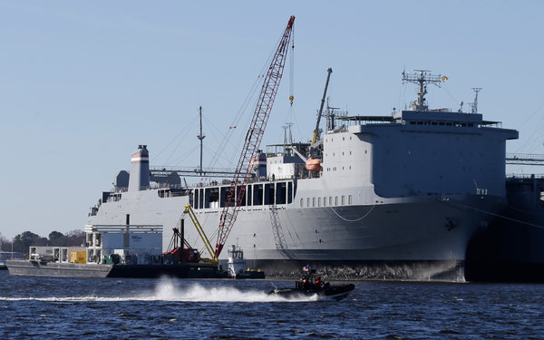 US ship equipped to destroy Syria's chemical weapons