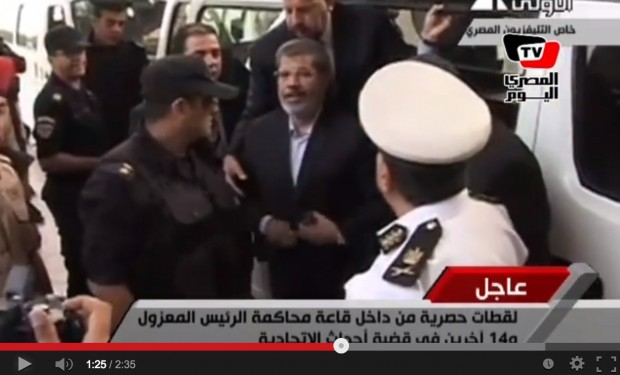 Egypt court adjourns Morsi murder trial to Sunday