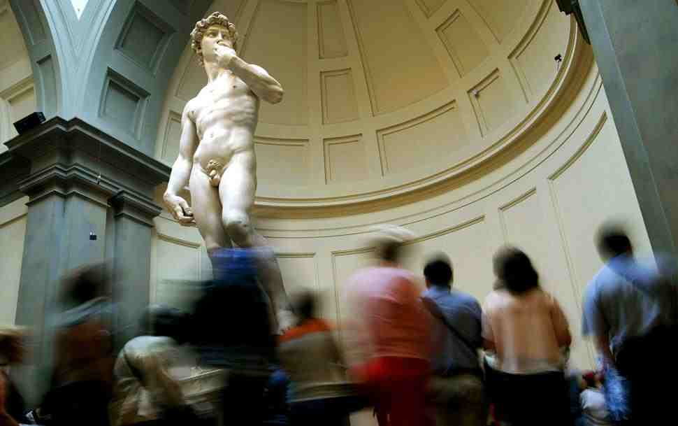 Florence says Michelangelo's weak ankles holding up