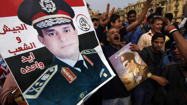 Sisi sweeps election as Egypt military reasserts grip
