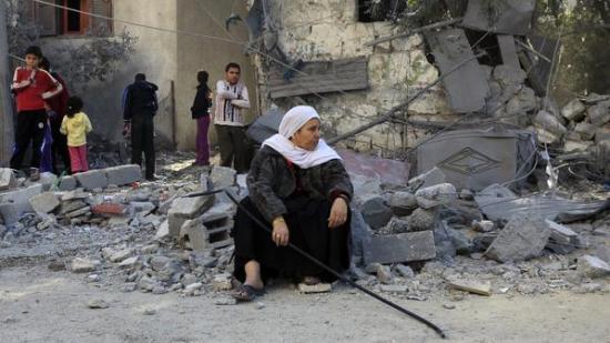 Gazans mark Eid al-Adha amid ruins of war