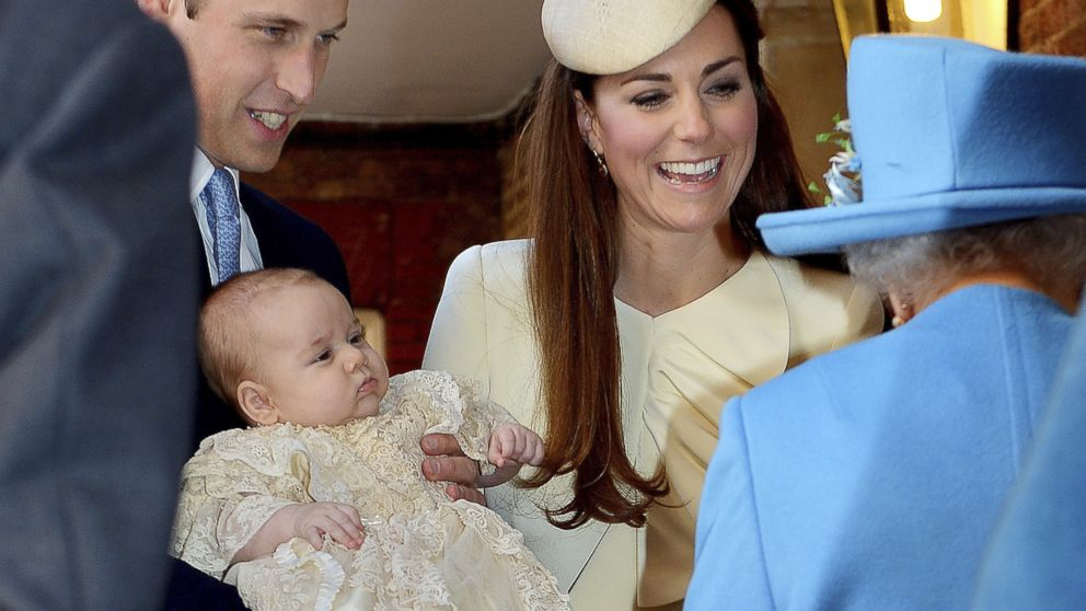 Britain's Prince George in new Christmas photos