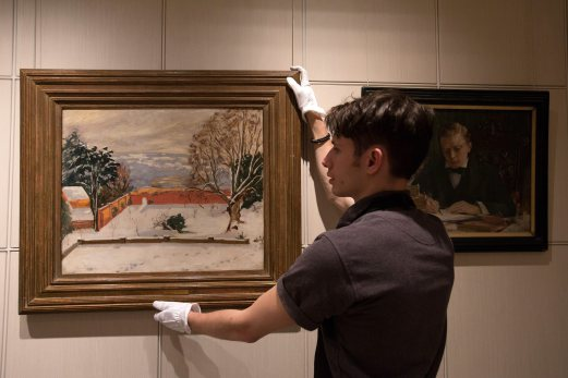 Churchill paintings sold off in rare auction