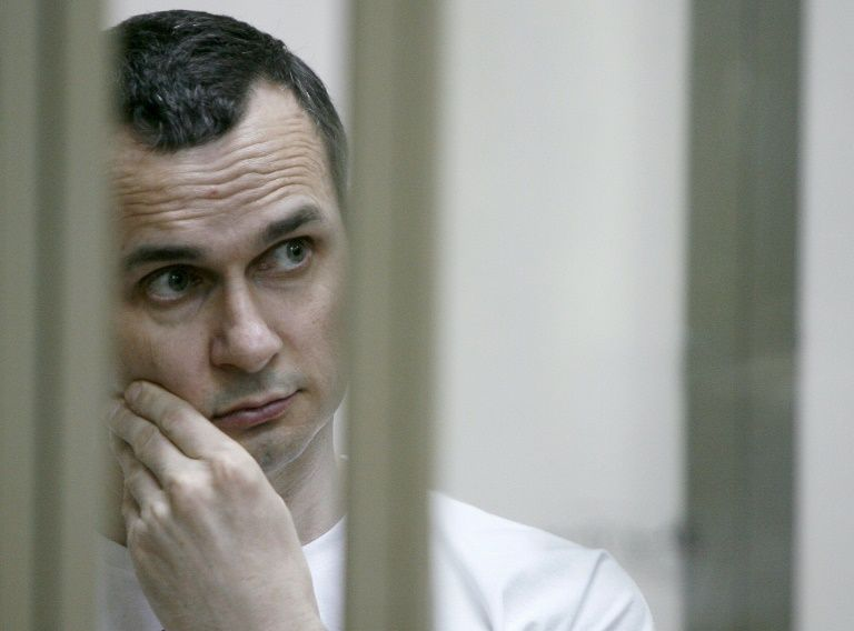 Jailed filmmaker inspires Ukraine with bestselling book