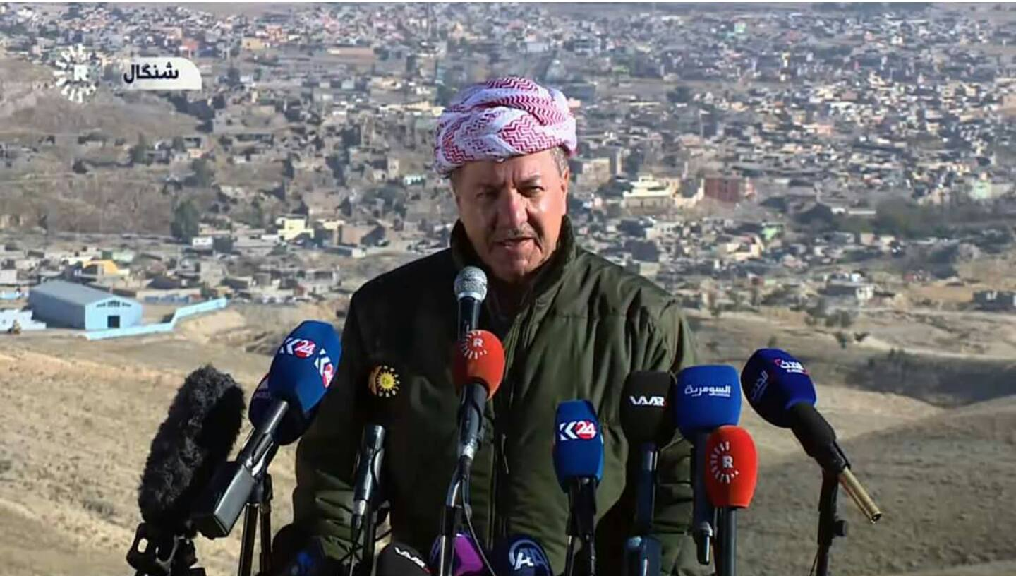 Iraq Kurd chief announces 'liberation' of Sinjar from IS