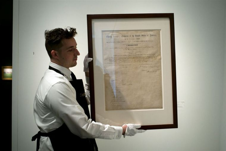 Lincoln documents expected to fetch millions in NY