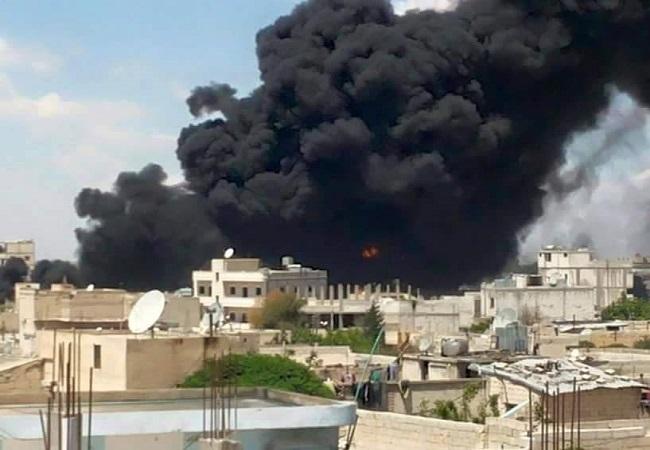 US-backed Syria alliance pushes into IS border hub