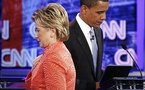 Clinton insists relations with Obama are good