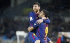 Messi shines as Barca crush minnows Huesca, Valencia derby drawn
