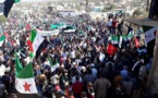 Residents in Syria's embattled Idlib hold anti-UN protest