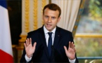 France's Macron arrives in Iraq for official visit