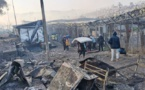 Greece reinforces police presence on Lesbos after refugee camp fire
